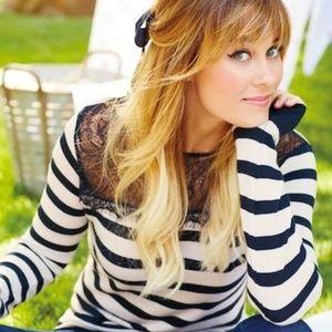 LC Lauren Conrad Striped Sweater EUC